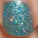Teal Glitter flash