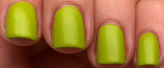 Wakiki on its own, I love this colour and managed to get it cheap when our Tesco was getting rid of their Barry M stand