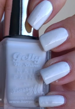 Cotton - standard bright white, the lovely shine stops the issue of it looking like you've used correction fluid on your nails! A lovely base for some nail art