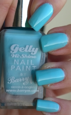 Sky Blue - this one seems a little thinner than the other 2 but still covers well, lovely rich blue like the spring sky