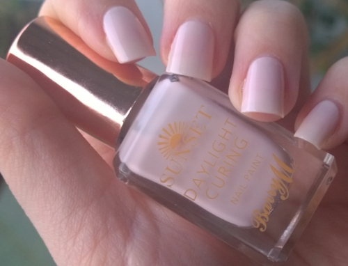 Nude nails, nude polish! Taken outside in the last rays of the sunset.