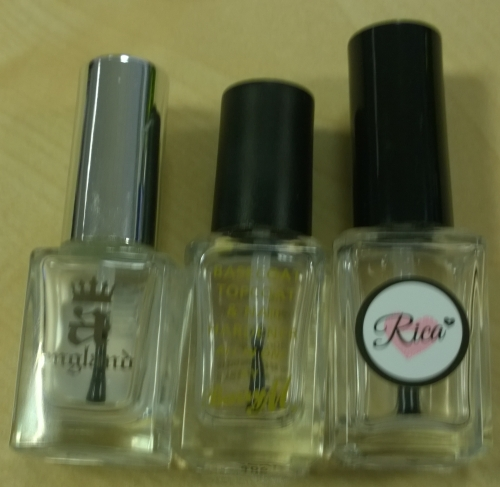 Comparison of a few top coats I have used regularly. Tune in to find out which is the winner!