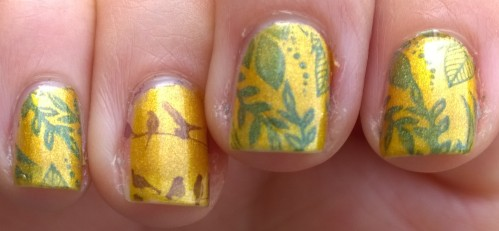 Right hand actually came out better, seems to be the way when it comes to stamping for me!