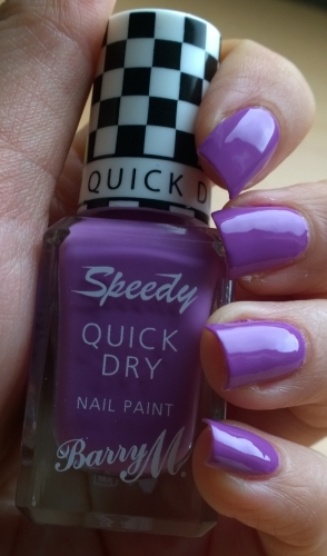 Barry M Need for Speed - such a beautiful purple! This was two coats, love this one. Still as quick to dry as the name promises too