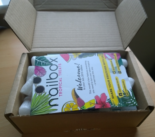 My first nailbox, this is the July edition. Read on to find out what was in it