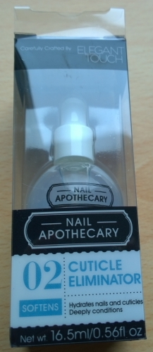 Nail Apothecary Cuticle Eliminator - probably the least exciting thing in the box for me but I'll give it a go