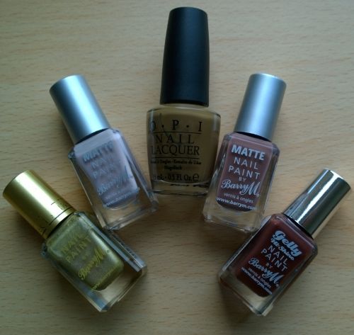 Polishes used, for the names check the picture below