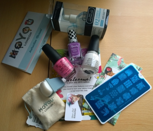 The contents of the July nailbox