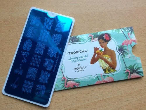Tropical stamping plate from Mo-You, love the designs on this and was thinking of getting more Mo You plates anyway