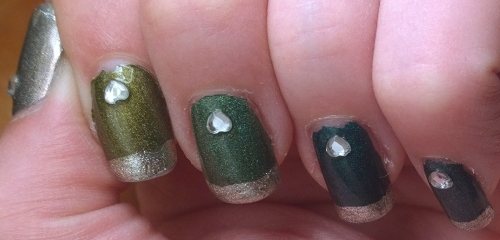 Have I ever mentioned I love A England polishes? This manicure says it all