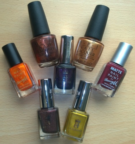 Feeling a little autumnal, read on to see my pick of colours