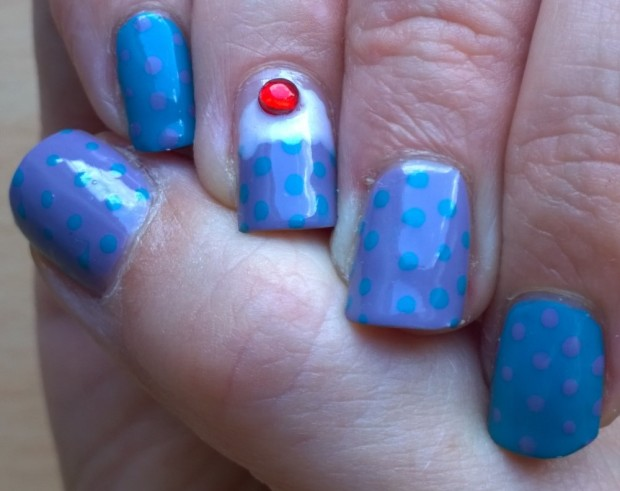 This is how much I love GBBO - I did nails especially for it in 2015. There was even a promotion on the A England polishes I used in my shop.