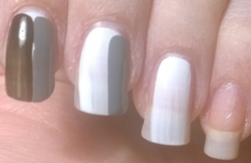 Day 30: Inspired by a tutorial. This is actually going to be made into a tutorial for this site as well. It's the most basic one you could possibly wish for, how to paint your nails - the 3 strokes you should use.