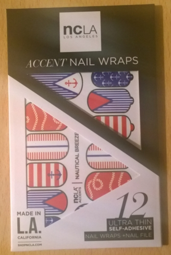 Nautical themed nail wraps