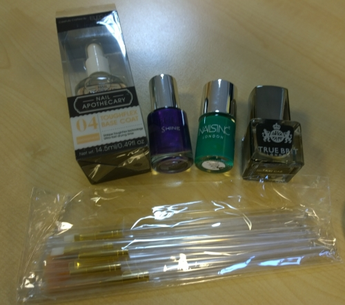 September Nailbox contents - a lovely selection