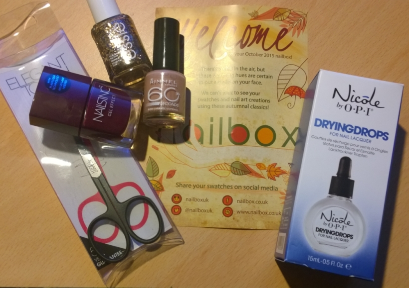 Octobers Nailbox Contents - possibly the best colours yet
