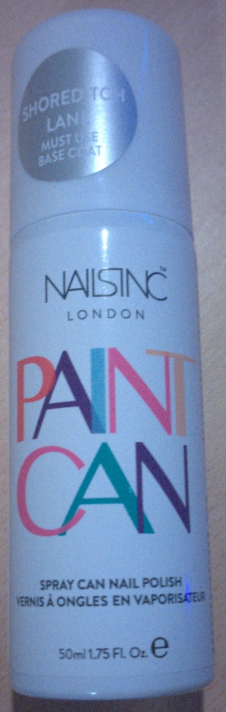 """Nails Inc Spray on nail polish Paint Can - available in 2 colours at the moment, a hot pink or this lovely silver """"Shoreditch Lane"""""""