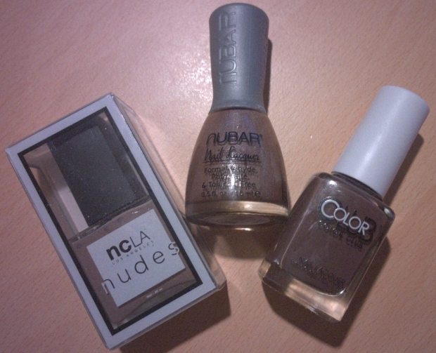3 lovely nude shades