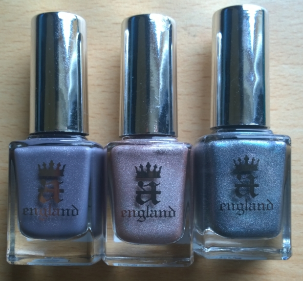 "Polishes used: ""Wuthering Heights"", ""Her Rose Adagio"" and ""Captive Goddess"""