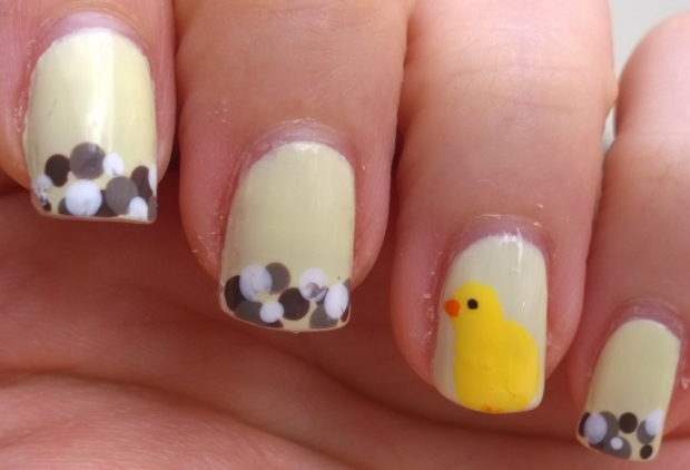 Easter Chick and nails