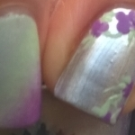 Green, silver and purple flowers thumbnail