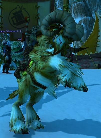 World of Warcraft Paladin on Brewfest Ram