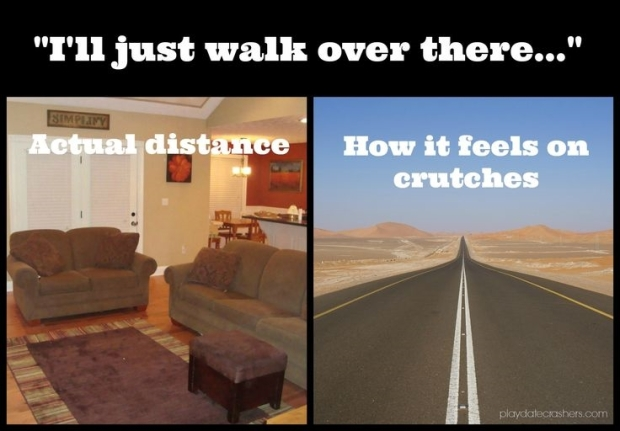 Crutches and distance