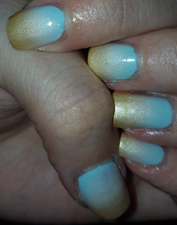 Winter sunrise nails with flash