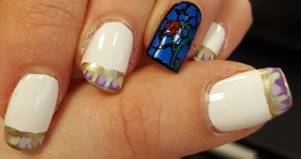 Beauty and the Beast - my favourite Disney film of all time and now some nails to go with it
