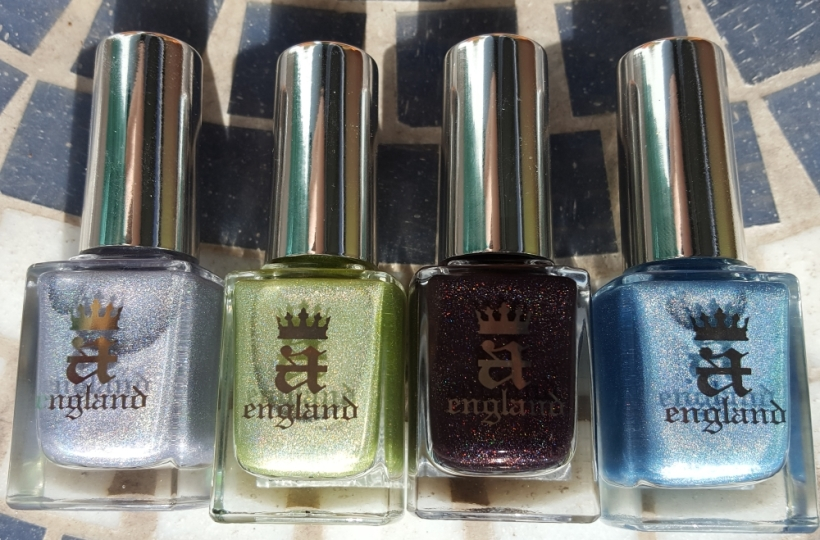Left to right: Carnation Lily Lily Rose, Symphony in Green and Gold, Nocturne, Symphony in Blue and Silver