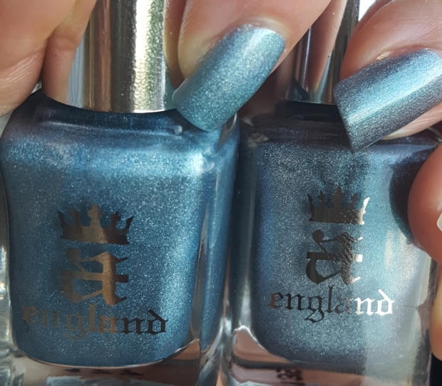 Symphony in Blue and Silver with Captive Goddess comparison
